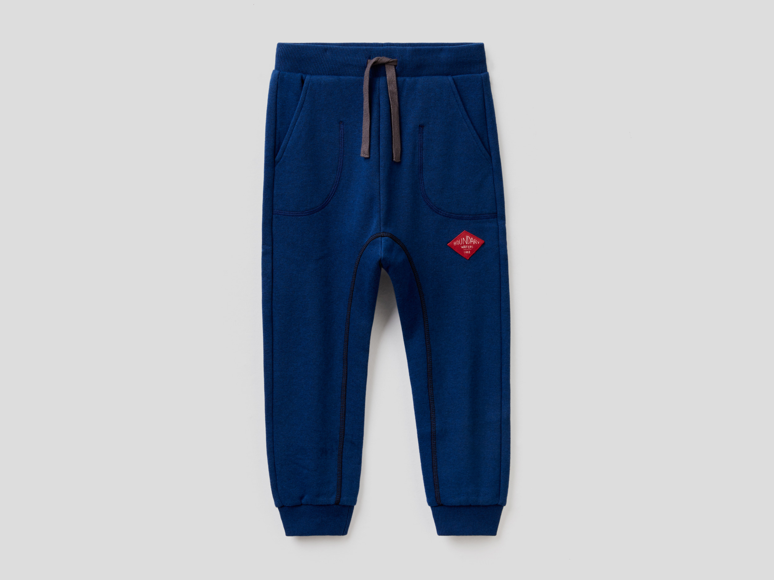 Benetton, Sweatpants With Visible Seam, size , Bright Blue, Kids