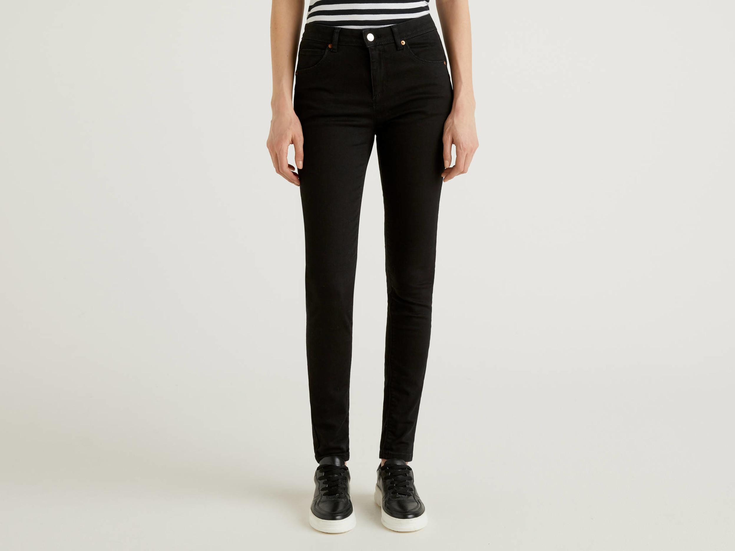 Benetton, Jeans Push Up Skinny Fit, Nero, Donna